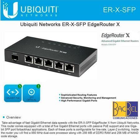 UBIQUITI / ROUTER EDGEROUTER ER X SFP 10/100/1000 GIGABIT ROUTER / EQUIPO NUEVO
