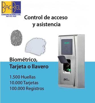 ZKTECO / CONTROL DE ACCESO ASISTENCIA EXTERIOR MOD. ZKMA300/ID / HUELLA y/o TARJETA / TCP/IP / IP54 / ¡EQUIPO NUEVO!