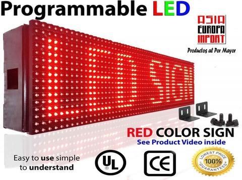 Panel letrero led programable / 100 x 20 cm / Panel Publicitario led
