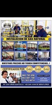 Instalación de Gas Natural, Termas