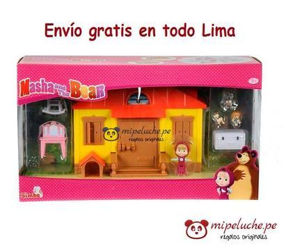 Masha y el Oso, Casa De Masha, Original Marca Simba, Set Completo