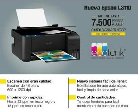 IMPRESORA EPSON L3110 NUEVAS EN PROMOCION