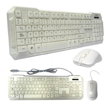 Kit Gaming Teclado y Mouse Advance ADV-KB830, USB, Blanco, Español, Óptico