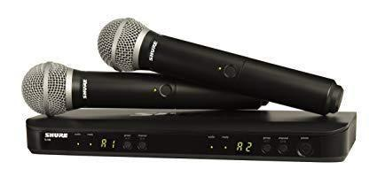 Microfono Shure Blx288/pg58 Sistema Inalámbrico