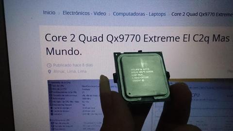 Core 2 Quad Qx9770 Extreme El C2q Mas Rapido Del Mundo