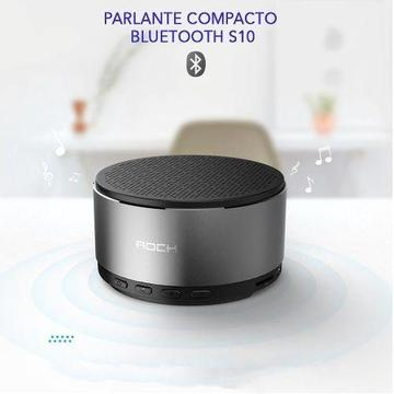 Parlante Portátil Bluetooth Inalámbrico S10 Aluminio Rock