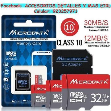 Memoria MicroSD de 32 GB con adaptador. MicroData