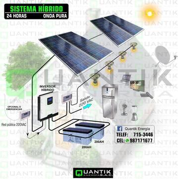PANEL SOLAR 1000W, SISTEMA DE ENERGIA COMPLETO