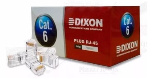 Conectores Plug Rj45 Dixon Cat 6e Cables De Red Patch Cord