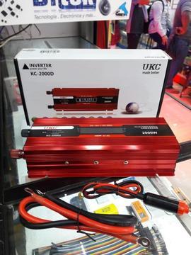 Inversor De Corriente Bateria 12v A 220v 2000watts