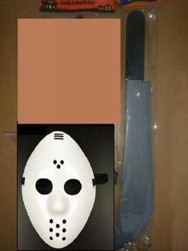 Escalofriante Mascara Jason Viernes 13 machete Halloween Hora Loca Disfraz Disfraces