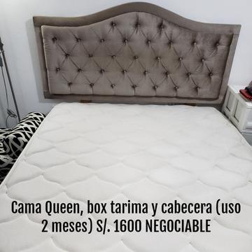 Vendo Cama Queen, Muebles, Negociable