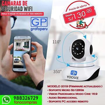 Camara Seguridad Robotica Vision Nocturna Wifi iP128gb 2019