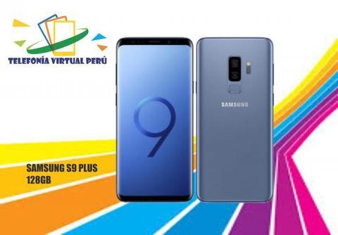 SAMSUNG S9 PLUS 128GB 6RAM NUEVO CÓMODO SELLADO Y DE YAPA UN OBSEQUIO SOMOS TELEFONIA VIRTUAL PERU