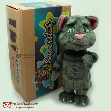 Talking Tom Superstar Peluche Gato Interactua Con El Celular Original