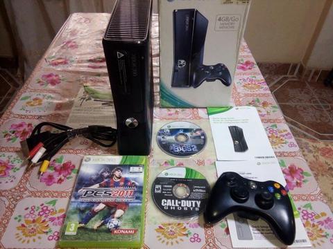 Xbox360 con 4juegos Y 1mando