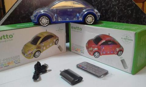 Parlante, con luz led modelo volkswagen Beetle