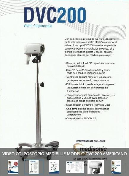Videocolposcopio MEDIBLUE - Modelo DVC 200 MADE IN USA