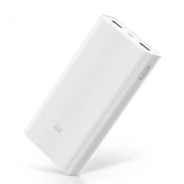 Original Xiaomi 2C 20000mAh Banco de energía de polímero de carga rápida 3.0 2 doble salida USB